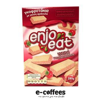 Enjoeat Γκοφρετάκια Φράουλα